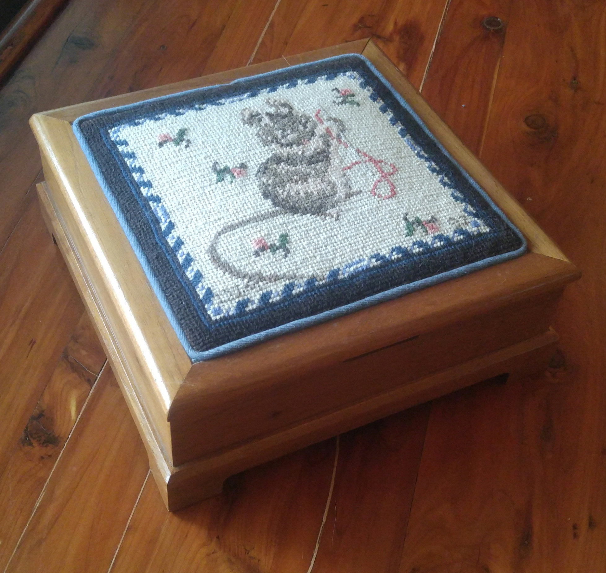 Mouse Sewing Box by JordyM Studio - Cross Stitch by Deborah Myers