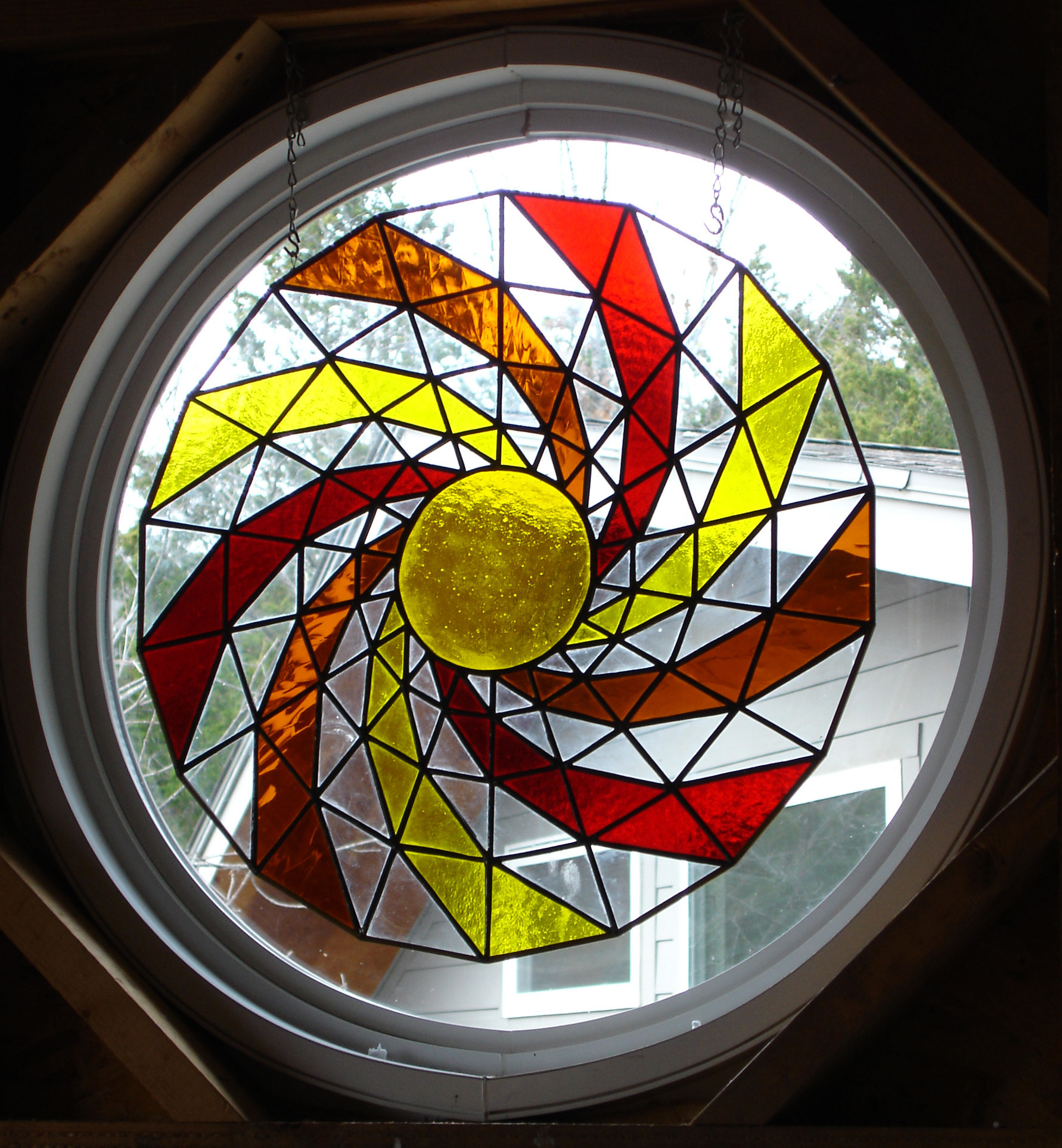 Stain glass circle by Kent Johnson